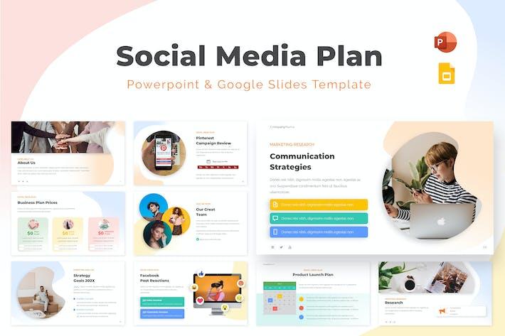 Social Media Plan Powerpoint & Google Slides