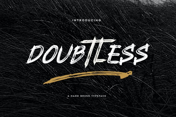 Thumbnail for Doubtless YP Brush Font