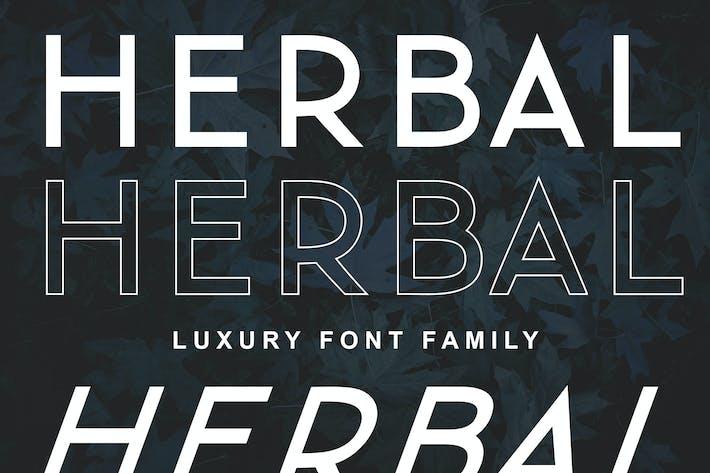 Thumbnail for Herbal Familia tipográfica