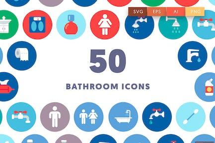 50 Bathroom & Toilet Icons