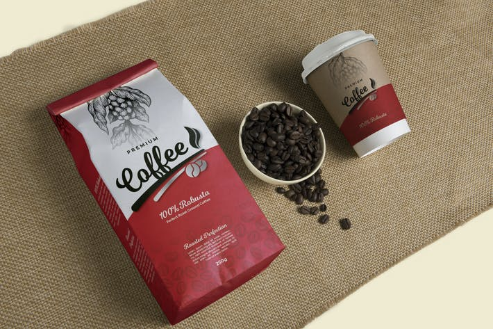 Thumbnail for Premium Coffee Packaging & Cup Label Design