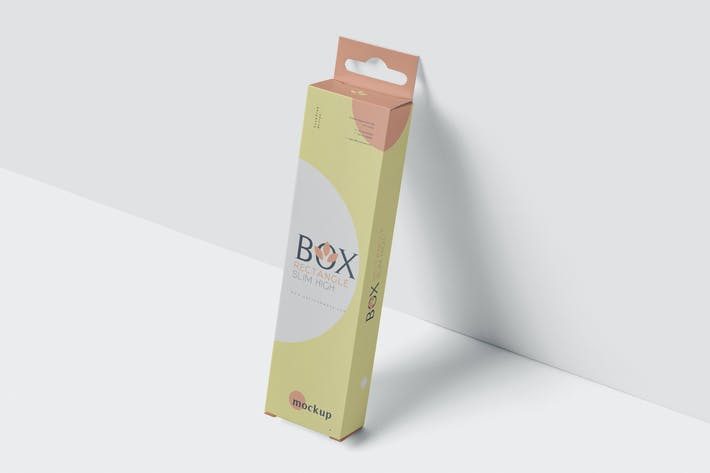 Thumbnail for Box Mockup with Hanger - Rectangle Slim High