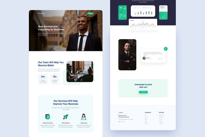 Business Consulting - Landing Page