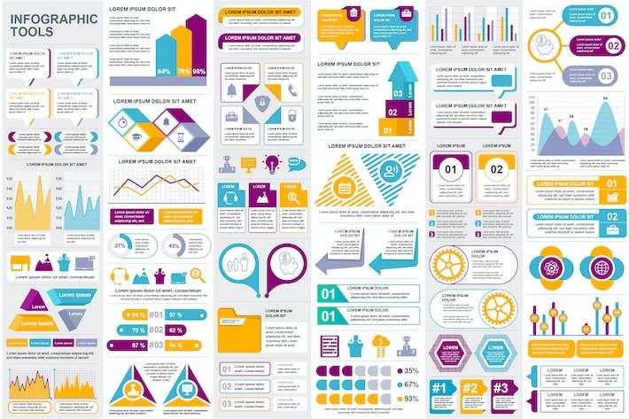 Thumbnail for Sammlung Infografik-Elemente Vorlage Grafiken