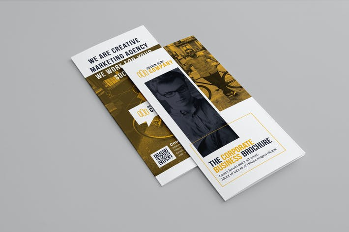 Thumbnail for Orange & White Trifold Brochure