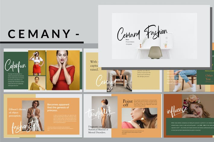 Thumbnail for Cemany - Fashion Powerpoint Template
