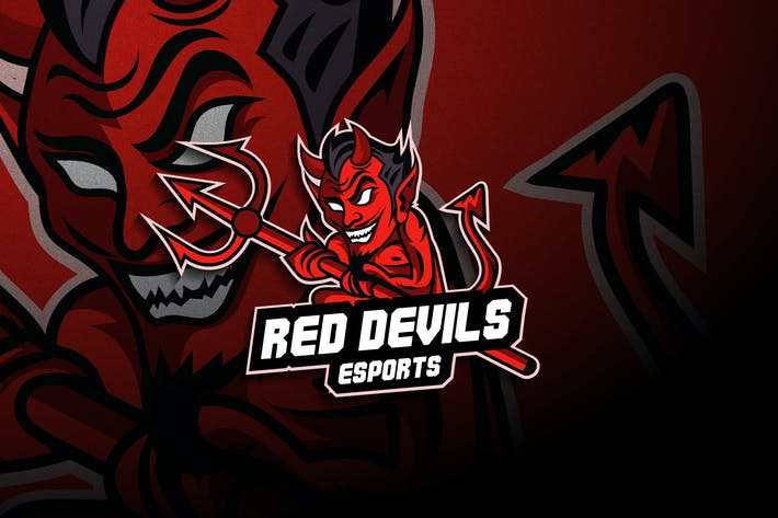 Thumbnail for Red Devil Esports - Mascot & Esport Logo