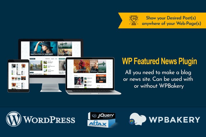 Thumbnail for WP Featured News Pro | Custom Posts Listing Plugin