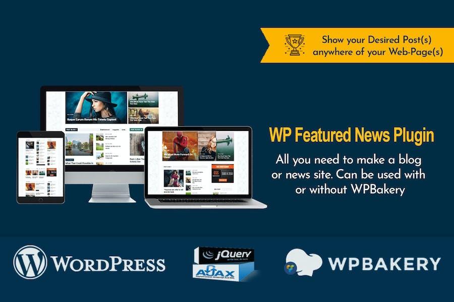 WP Featured News Pro | Custom Posts Listing Plugin