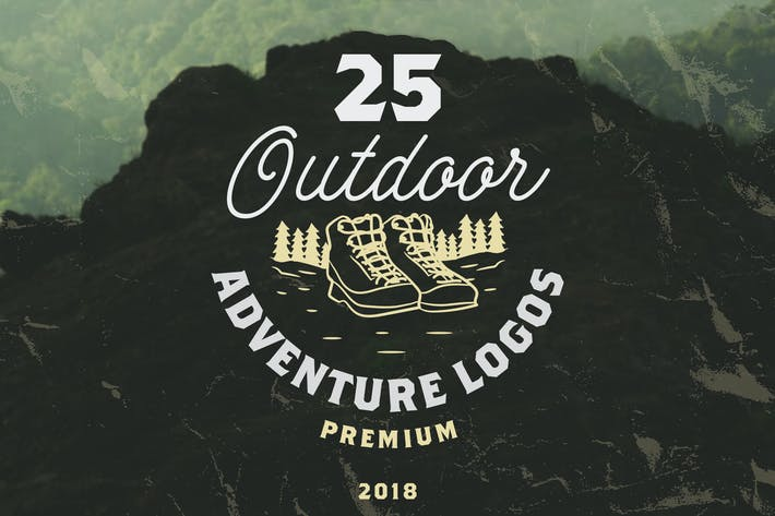 Thumbnail for 25 OUTDOOR ADVENTURE LOGOS / BADGES
