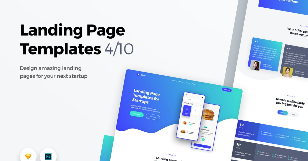 Download Landing Page Templates - Web UI Kit - 4 by panoplystore