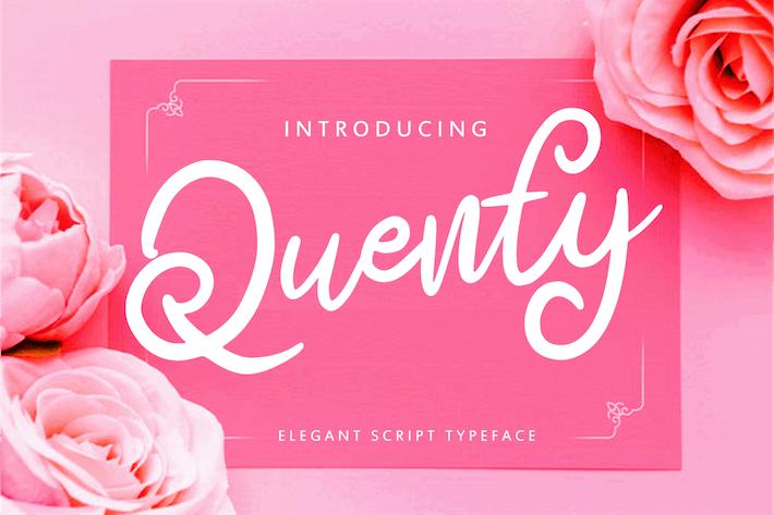 Thumbnail for Quenty - Elegant Script Typeface