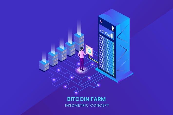 Thumbnail for Bitcoin Farm - Insometric Vector