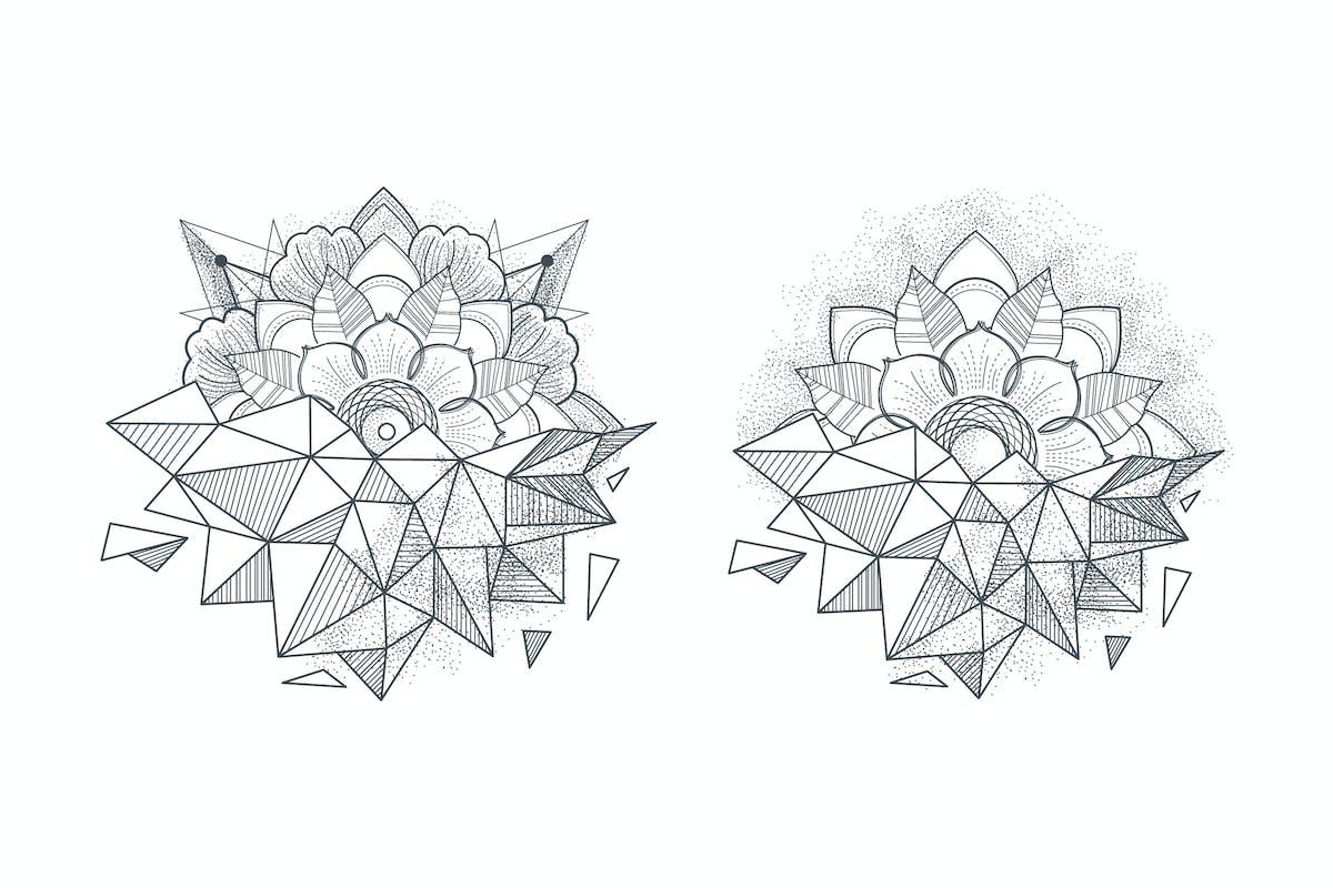 Ornament round mandalas tattoo. Geometric circle e by fet