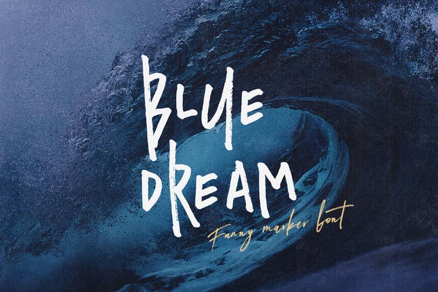 Blue Dream - Crazy Handwritten Font