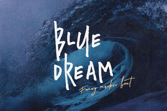 Blue Dream - Crazy Handwritten Font