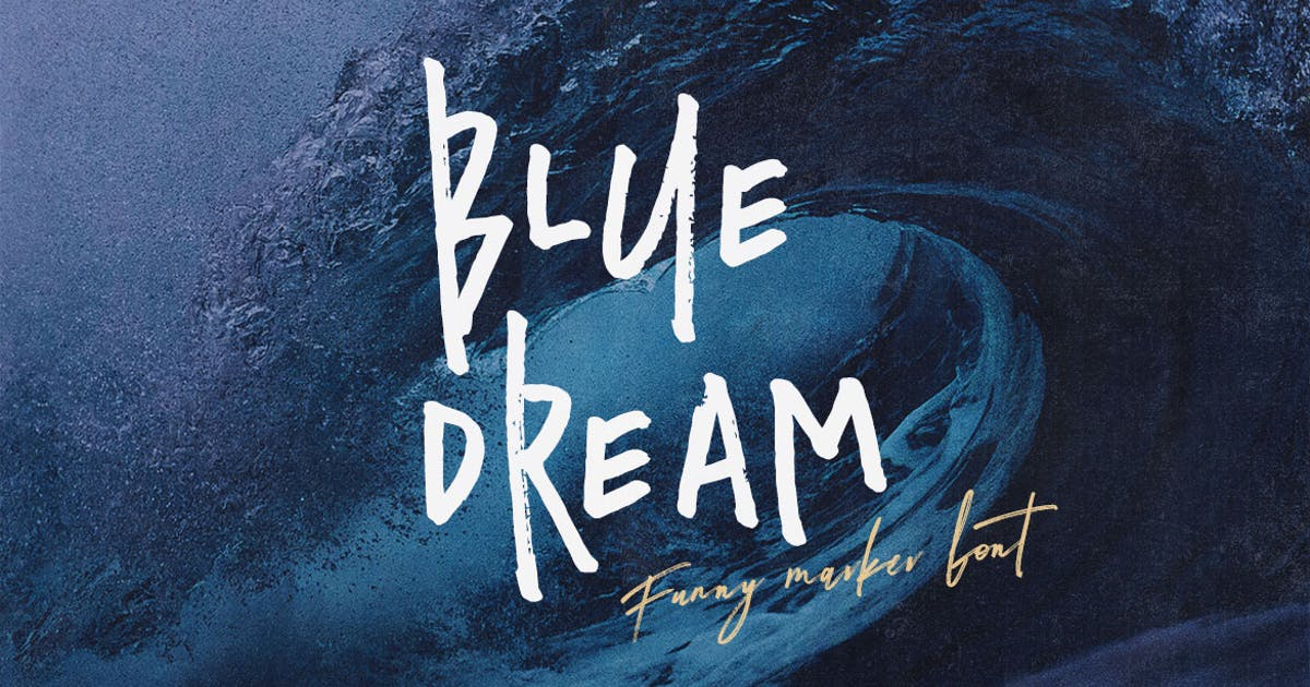 Download Blue Dream - Crazy Handwritten Font by cruzine