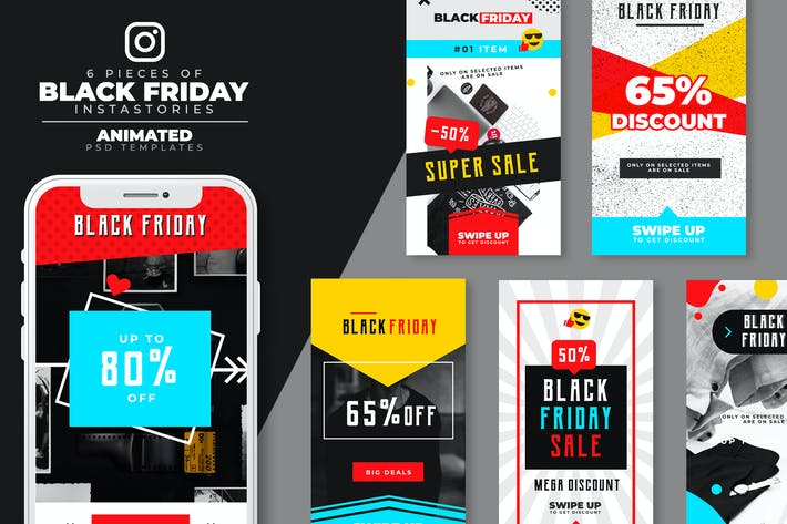 Thumbnail for Animated Black Friday Instagram Stories