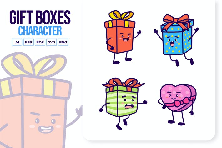 Gift Boxes Character