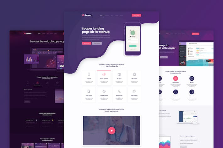 Thumbnail for Sooper - App & Software Landing Page Template