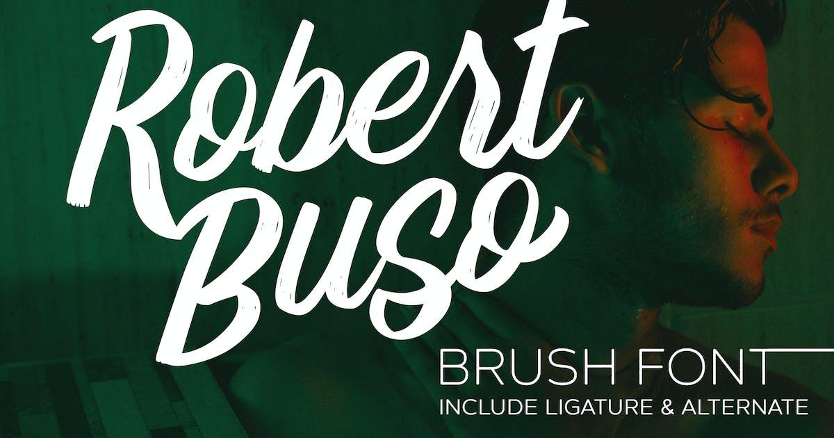 Download Robert Buso - Brush Font by IanMikraz