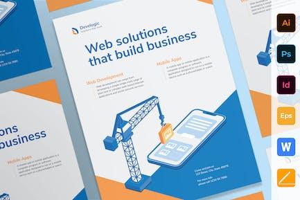 Poster de développement d'Appli Web et mobiles