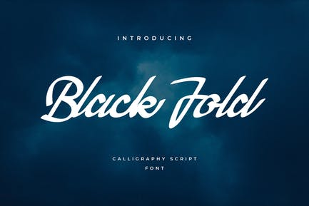 Black Fold Script Handwritten Font