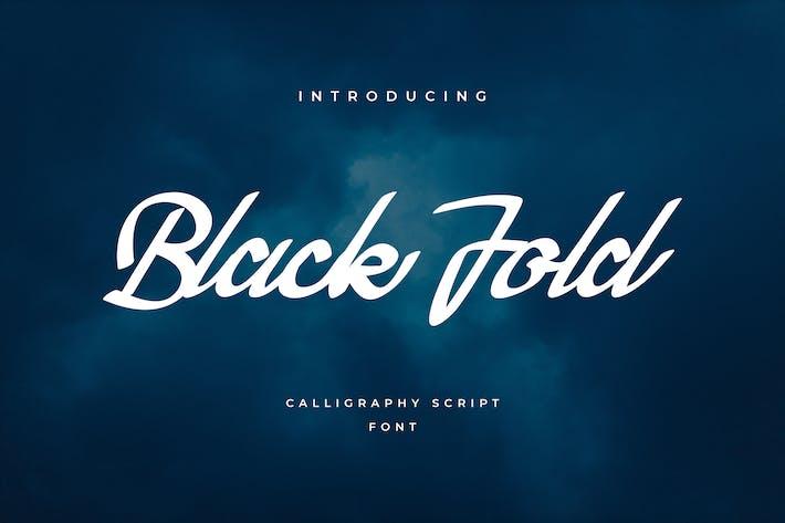 Cover Image For Black Fold Script Handwritten Font