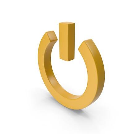 Power Icon Yellow