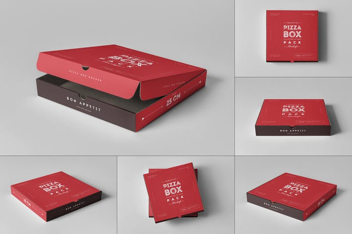 Thumbnail for 25 Pizza Box Mock-up