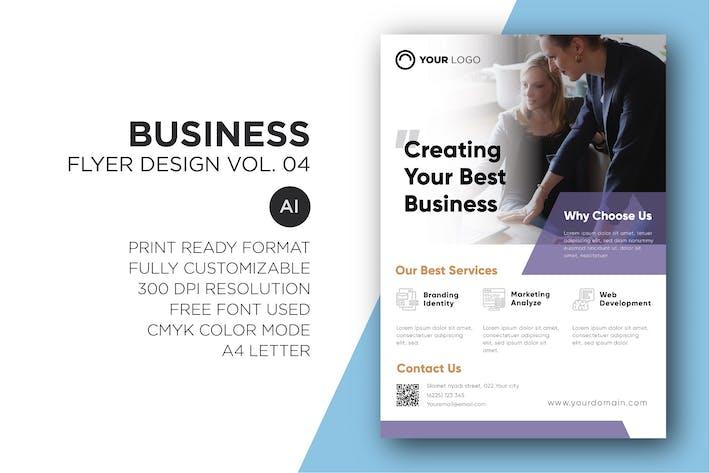 Cover Image For Business Fyer Design Vol. 04