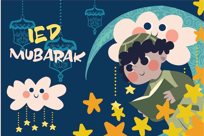 Thumbnail for Ied Mubarak - Vector Illustration