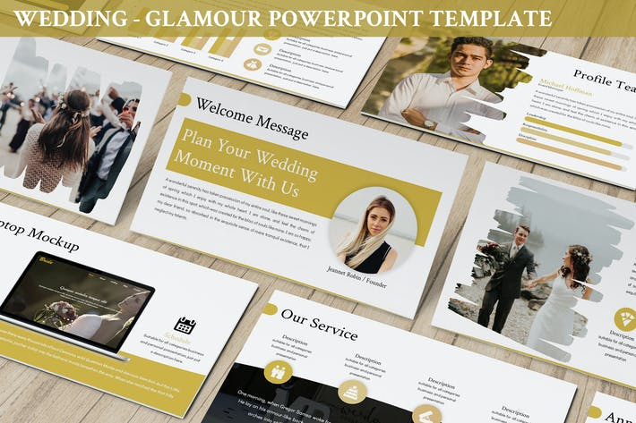 Thumbnail for Wedding - Glamour Powerpoint Template