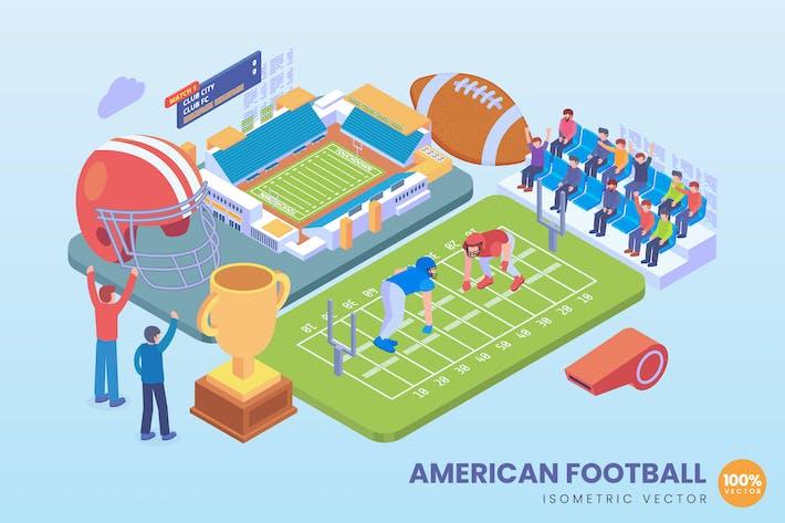 Thumbnail for Isometrisches American Football Konzept
