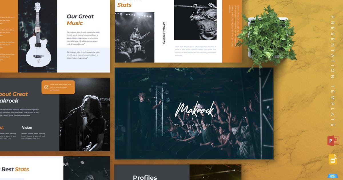 Download MAKROCK - Music Powerpoint/Google Slide/Keynote by RahardiCreative