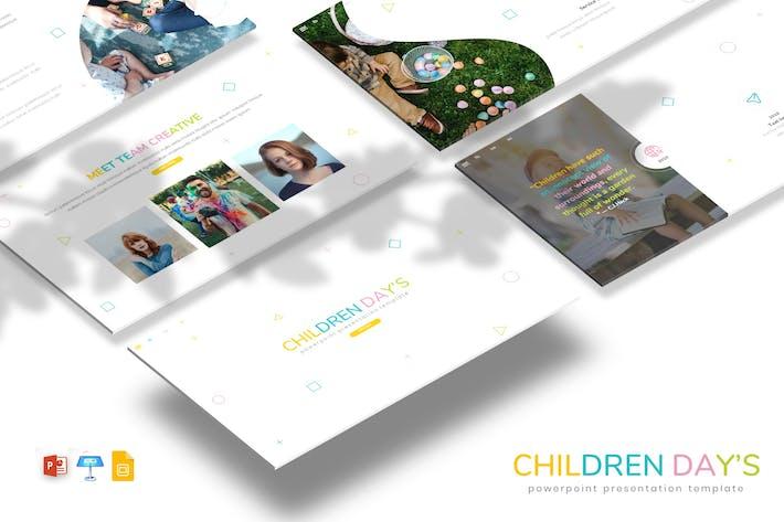 Thumbnail for Детские дни - Детская тема PPTX/GSlid/Ключ