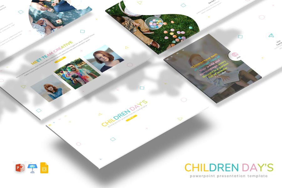 Детские дни - Детская тема PPTX/GSlid/Ключ