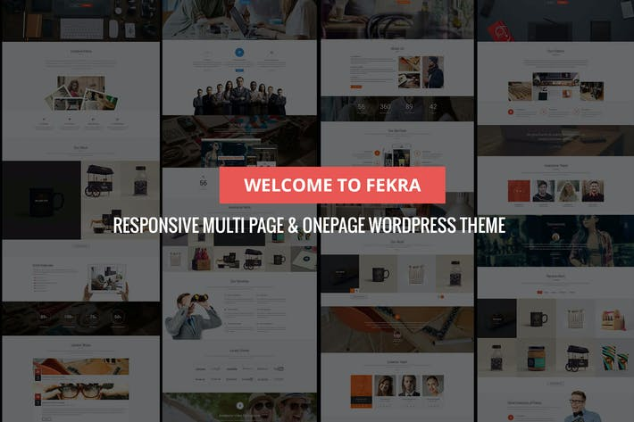 Thumbnail for Fekra – Multi Page/One Page WordPress Theme