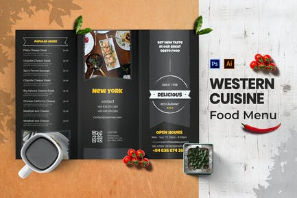 Western Cuisine Food Menu