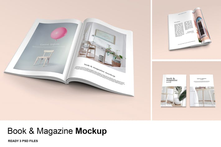 Cover Image For Book & Magazine - Mockup