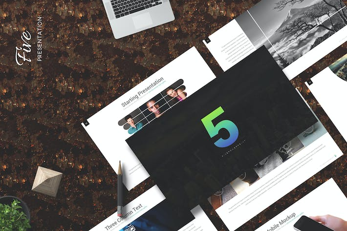 Thumbnail for Five - Keynote Template