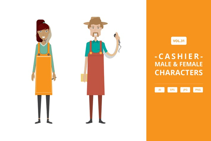 Thumbnail for Cashier - Male & Female Characters Vol.31