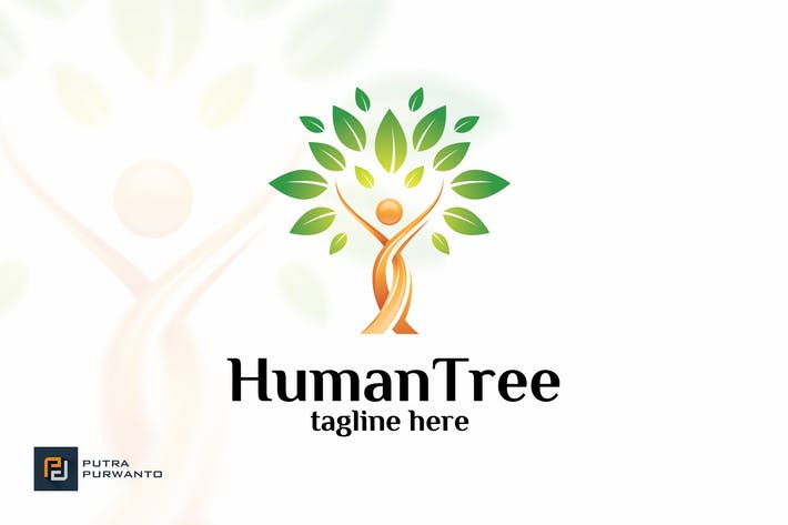 Thumbnail for Human Tree - Logo Template