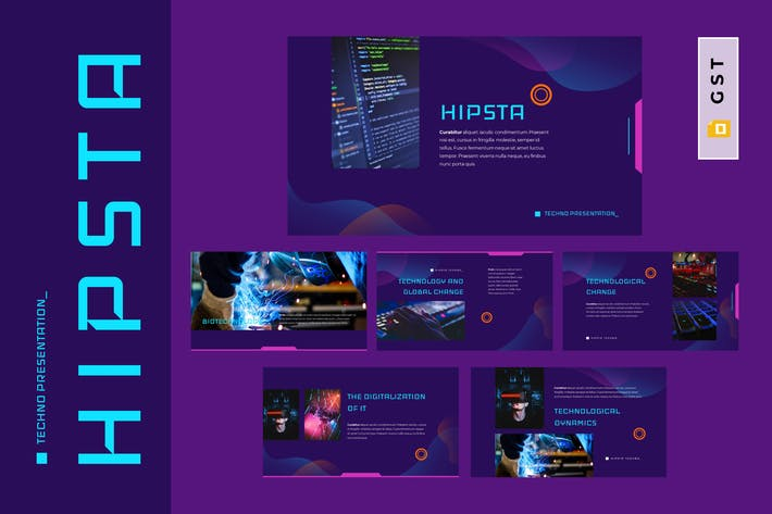 Thumbnail for HIPSTA - Technology Google Slides Template