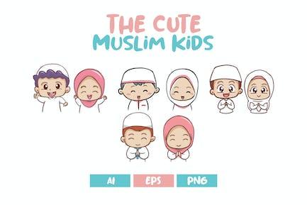 Les mignons enfants musulmans