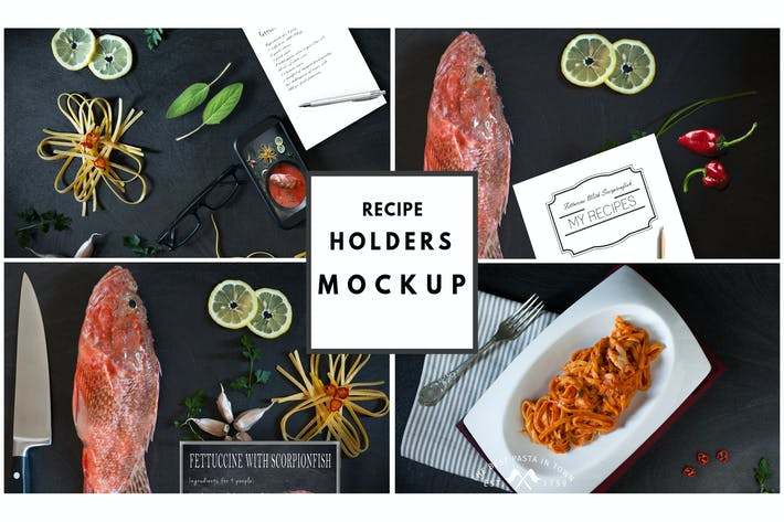 Thumbnail for Recipe Holders Mockup