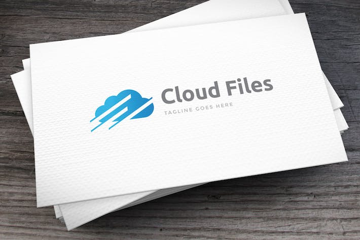 Thumbnail for Cloud Files Logo Template