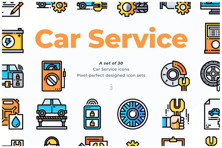 Thumbnail for 30 Car Service Icons