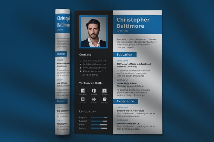 Thumbnail for CV Resume Professional Template Vol. 21