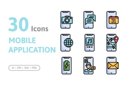 30 Mobile Application Icons